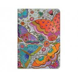 BUTTERFLY striped mini diary cm 10 x 14