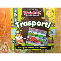 BRAIN BOX TRASPORTI gioco di carte ITALIANO memoria 10 MINUTI brainbox QUIZ età 4+