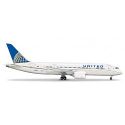UNITED AIRLINES BOEING 787-8 DREAMLINER aereo 555616 HERPA WINGS scala 1:200 plane model