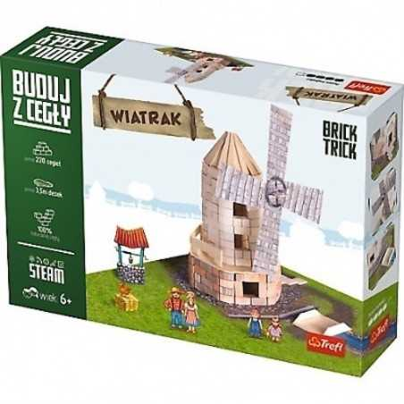 BUILD WITH BRICKS brick tricks MULINO A VENTO Trefl KIT MODELLISMO mattoni veri SET età 6+