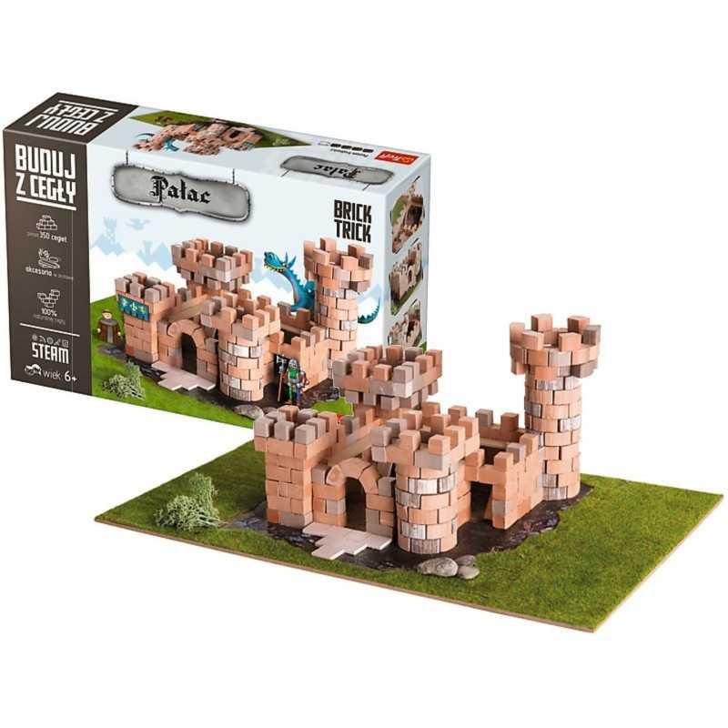 BUILD WITH BRICKS brick tricks CASTELLO MEDIEVALE Trefl KIT MODELLISMO mattoni veri SET età 6+