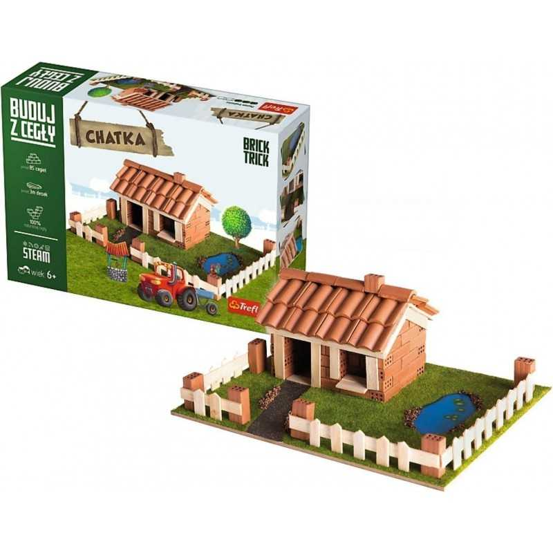 BUILD WITH BRICKS brick tricks VILLETTA COTTAGE Trefl KIT MODELLISMO mattoni veri SET età 6+