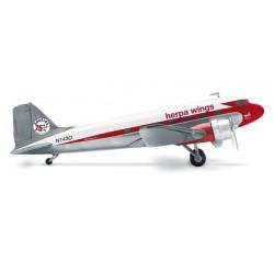 DC-3 DOUGLAS 75' ANNIVERSARIO aereo in metallo 553803 modellino HERPA WINGS scala 1:200