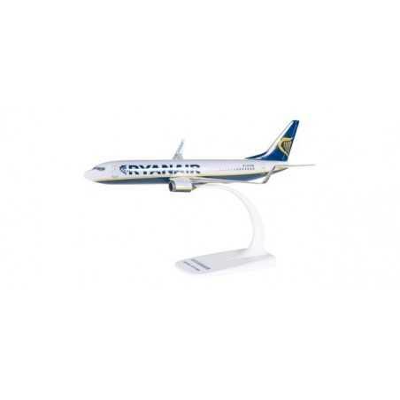 RYANAIR BOEING 737-800 aereo in plastica 609395 modellino HERPA SNAP FIT scala 1:200