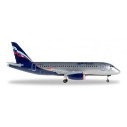AEROFLOT SUKHOI SUPERJET 100 aereo in metallo 528078 modellino HERPA WINGS scala 1:500