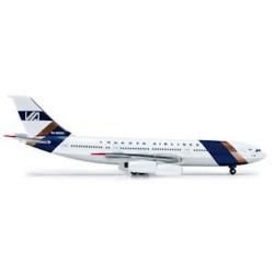 VNUKOVO AIRLINES ILYUSHIN IL-86 aereo in metallo 518871 modellino HERPA WINGS scala 1:500