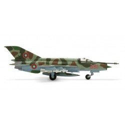 BULGARIAN AIR FORCE MIKOYAN MIG-21BIS aereo in metallo 552400 modellino HERPA WINGS scala 1:200