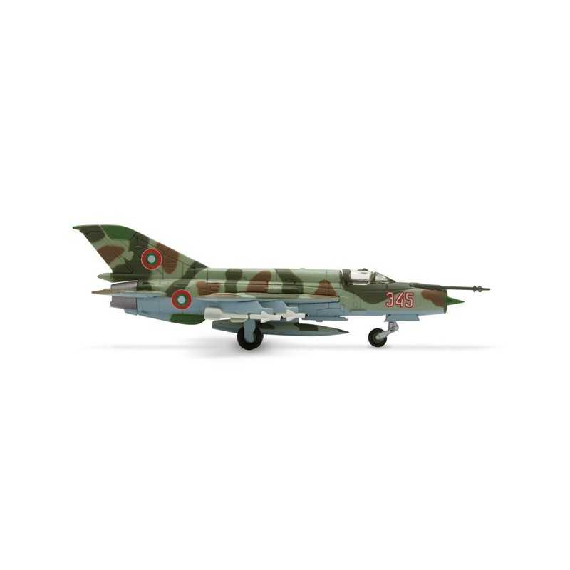 BULGARIAN AIR FORCE MIKOYAN MIG-21BIS aereo in metallo 552400 modellino HERPA WINGS scala 1:200