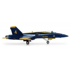 US NAVY MCDONNELL DOUGLAS F/A-18 HORNET aereo in metallo 554312 modellino HERPA WINGS scala 1:200