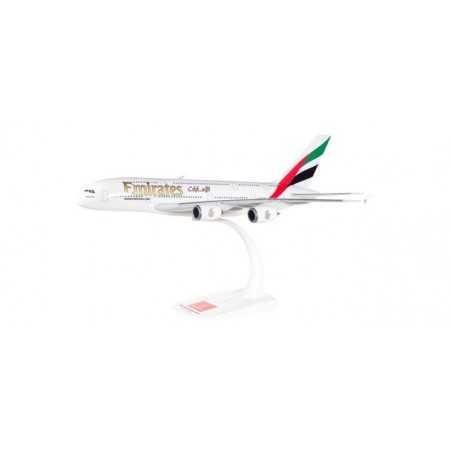 EMIRATES AIRBUS A380 aereo in plastica 607018-001 modellino HERPA SNAP FIT scala 1:250
