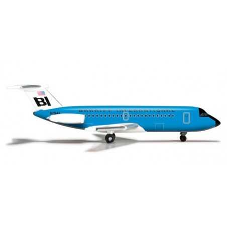 BRANIFF INTERNATIONAL BAC 1-11-200 aereo in metallo 524087 modellino HERPA WINGS scala 1:500