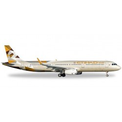 ETIHAD AIRWAYS AIRBUS A321 aereo in metallo 528689 modellino HERPA WINGS scala 1:500