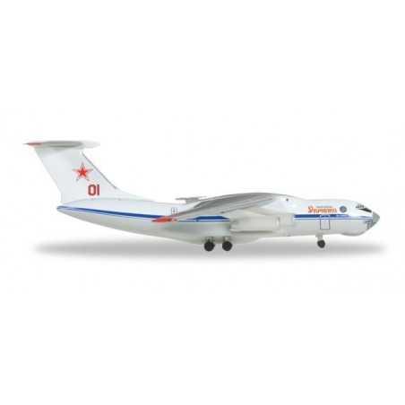 RUSSIAN AIR FORCE ILYUSHIN IL-76 aereo in metallo 526746 modellino HERPA WINGS scala 1:500