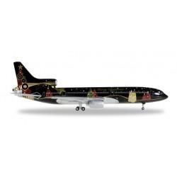 TRISTAR L-1011 CHRISTMAS 2015 aereo in metallo 528146 modellino HERPA WINGS scala 1:500