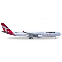 QANTAS AIRBUS A330-300 aereo in metallo 528672 modellino HERPA WINGS scala 1:500