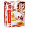 SET PER TOSTAPANE bianco e rosso POP UP TOAST in legno HAPE gioco E3148 età 24 mesi +