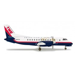 TRANS WORLD EXPRESS SAAB 340 aereo in metallo 555654 modellino HERPA WINGS scala 1:200