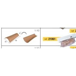 TEGOLA ROSSA confezione 100 pezzi Aedes Ars cm 5x2 in ceramica per modellismo statico