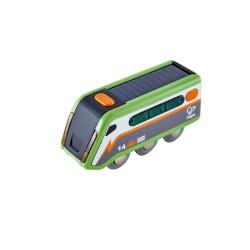 TRENO A ENERGIA SOLARE locomotiva in legno HAPE gioco E3760 trenino SOLAR POWERED età 3+