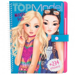 ALBUM con stickers MAGIC FUN create your TOP MODEL matita magica 234 TRASFERELLI 0410015_A
