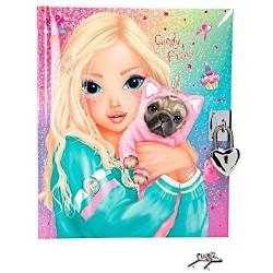 DIARIO SEGRETO Top Model CANDY e PRINCE con lucchetto e chiavi GLITTER copertina imbottita