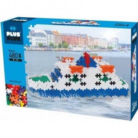 Plus Plus MINI Basic 480 PEZZI costruzioni TRAGHETTO in plastica GIOCO MODULARE 7 colori 5+