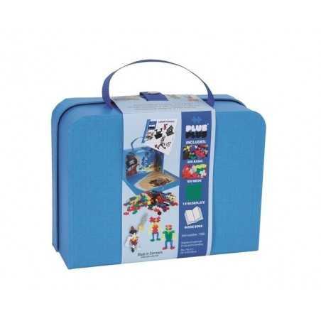 Plus Plus MINI Basic 400 PEZZI costruzioni VALIGETTA in plastica GIOCO MODULARE blu 5+