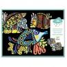 COLORARE VELLUTO kit artistico SPLENDIDI PESCI 4 tavole DJECO creativo DJ09098 età 3+