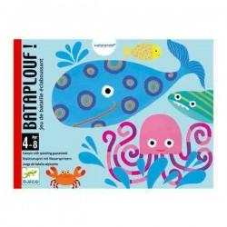BATAPLOUF gioco di carte plastificate CARTA PIU' ALTA pesci DJECO bagnetto IN ACQUA età 4+