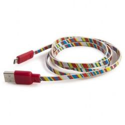 CAVO universale USB micro usb FLAT FANTASY sync and charge 1,2 METRI mobile TUCANO accessori