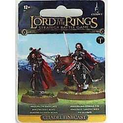 ARAGORN il cancello nero LORD OF THE RINGS 2 miniature CITADEL Games Workshop FINECAST età 12+