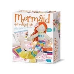 SET CREA UNA SIRENETTA kit artistico MERMAID DOLL MAKING KIT gioco 4M creativo SIRENA età 8+