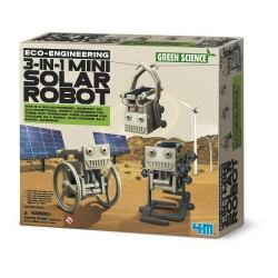 3 IN 1 MINI SOLAR ROBOT eco engineering GREEN SCIENCE solare KIT SCIENTIFICO gioco 4M età 8+