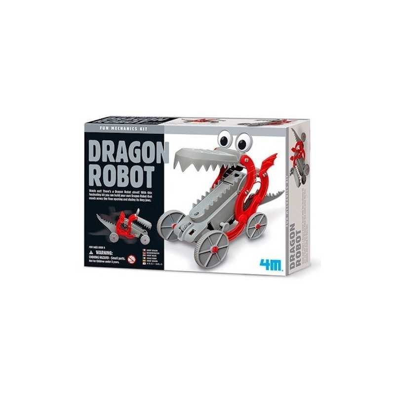 DRAGON ROBOT fun mechanics kit DRAGO bocca apri e chiudi SET SCIENTIFICO gioco 4M età 8+
