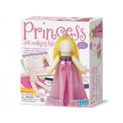 SET CREA UNA PRINCIPESSA kit artistico PRINCESS DOLL MAKING KIT gioco 4M età 3+