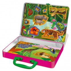 MAGNETI NATURA SELVAGGIA wildlife magnets THINKING KITS scenario VALIGETTA set 4M età 4+