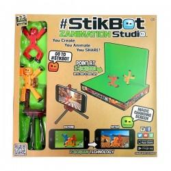 STICKBOT zanimation studio ANIMAZIONE crea anima condividi 2 PERSONAGGI stand SFONDO VERDE età 4+