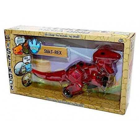 STIKBOT zanimation studios MEGA DINO StikT-REX dinosauro ROSSO età 4+