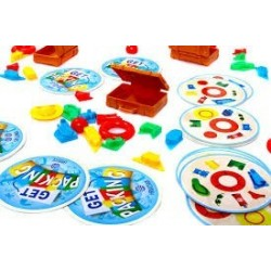 GET PACKING gioco di abilità in italiano Asmodee party game incastra i pezzi nella valigia
