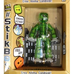 STIKBOT personaggio STIK umano VERDE zanimation studios SNODATO età 4+