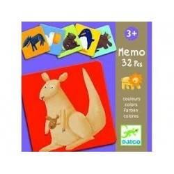 Djeco animaux couleur mémo...