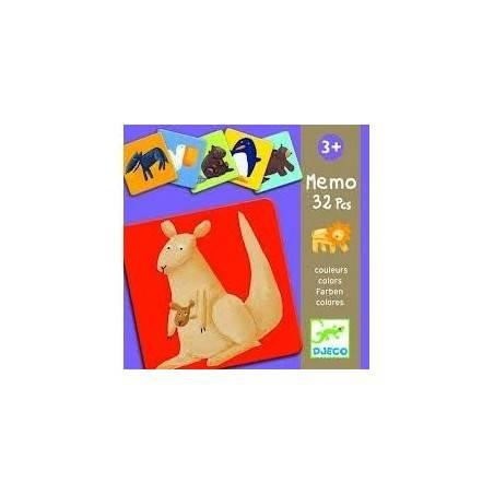 MEMO COLORI ANIMALI Djeco in cartoncino 32 pz. età 3+ Djeco - 2
