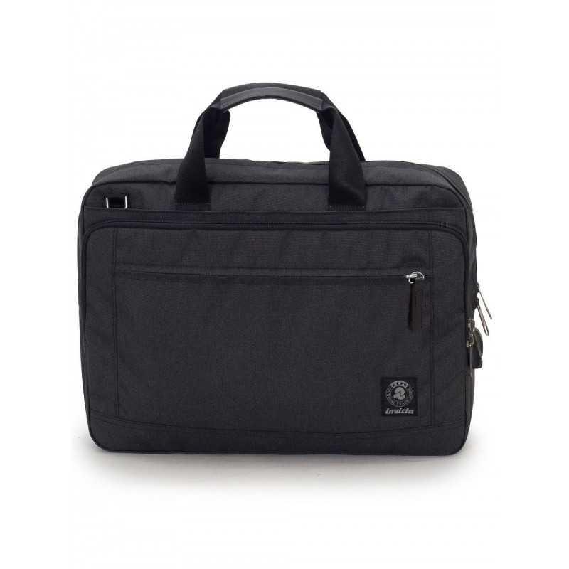 """BUSINESS BAG carry on NERO invicta UFFICIO borsa CON MANICI porta computer 15.6"""""""