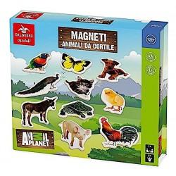 ANIMALI DA CORTILE MAGNETICI in legno CUCCIOLI Dal Negro 20 MAGNETI Animal Planet NOMI età 3+ DAL NEGRO - 1