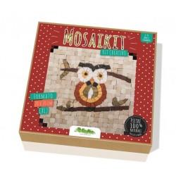 MOSAIKIT XL extra large MOSAICO vero 20X20CM kit artistico GUFO owl CREATIVAMENTE età 6+ Creativamente - 1