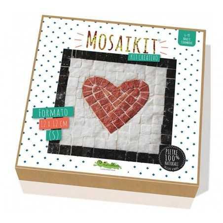 MOSAIKIT S small MOSAICO kit artistico 12X12CM heart CUORE Creativamente 6+ Creativamente - 1
