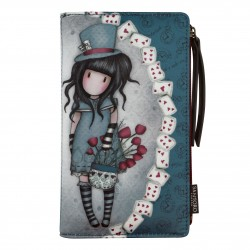 PORTAFOGLI LARGE morbido THE HATTER blu SANTORO wallet GORJUSS borsello 871GJ01 Santoro - 1
