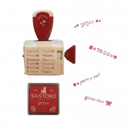 Set Blocco Timbro 12 Stampi Diversi Little Red Riding Hood Rosso