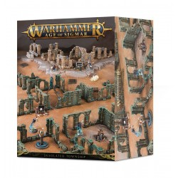 DESOLATED TOWNSHIP scenery Warhammer Age of Sigmar objectives Shattered Dominions Azyrite Ruins Games Workshop - 1