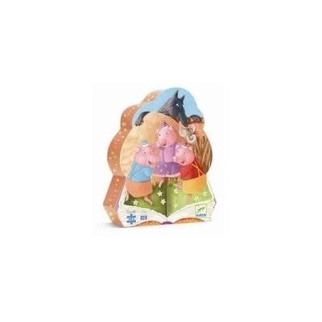 Puzzle Djeco I 3 PORCELLINI 24 pz, età 3+ Djeco - 2